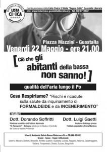 """Venerdì 22 Maggio, """"inceneritori e formaldeide"""" - Incontro con il Dott. Morando Soffritti e il Dott. Luigi Gaetti"""