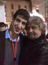 Davide Zanichelli con Beppe Grillo