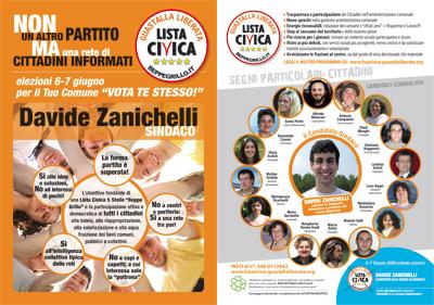 Elezioni 6 - 7 Giugno: per il Tuo Comune vota te stesso, vota Davide Zanichelli sindaco