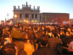 L'arrivo a piazza San Giovanni