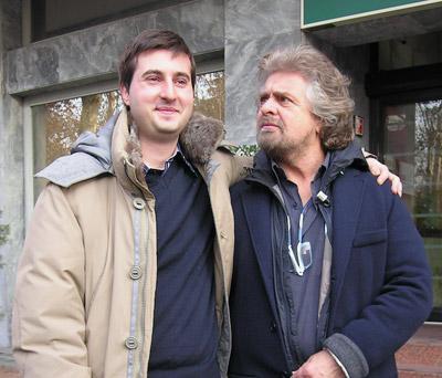 Beppe con il nostro Luca Pecchini, candidato come consigliere alle prossime regionali per il MoVimento 5 Stelle