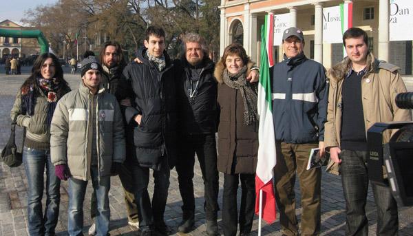 Alcuni di noi della Lista Civica 5 Stelle di Guastalla con Beppe Grillo