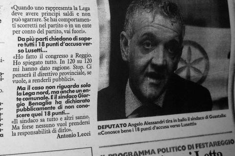 """Uno stralcio dell'intervista rilasciata da Angelo Alessandri a """"Il Resto del Carlino"""""""