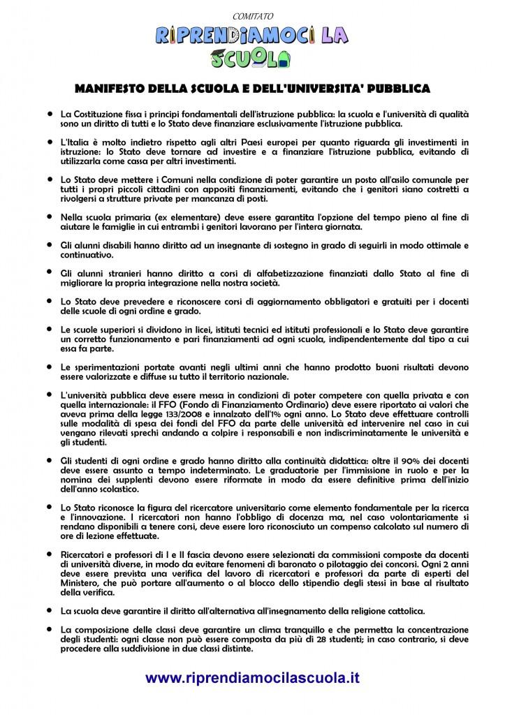 ManifestoScuola